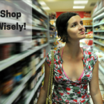 Girl exposed cleavage shopping