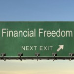financial freedom exit sign