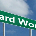 hard work sign