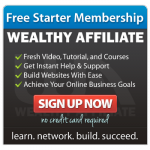 wealthy affiliate main page button