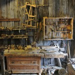 old workshop with hand tools