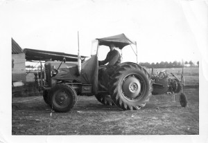 uncle on farm tractor