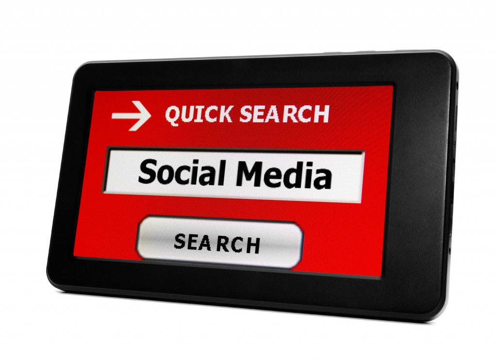 social media quick search button