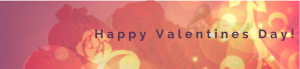 Happy Valentines day banner