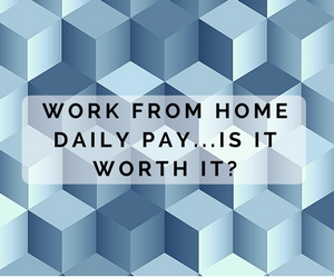 Work from home pay for