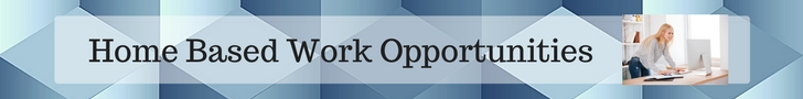 Home Based Work Opportunities Banner
