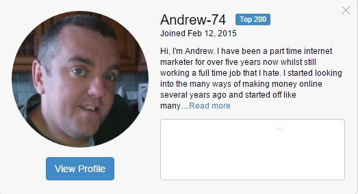 Andrew Successful with online business